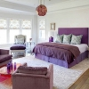 Фіолетова серпанок у вашій спальні