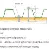 Кріплення профільованого настилу і розрахунок саморізів
